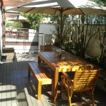 Rerforma de mesa para jardim